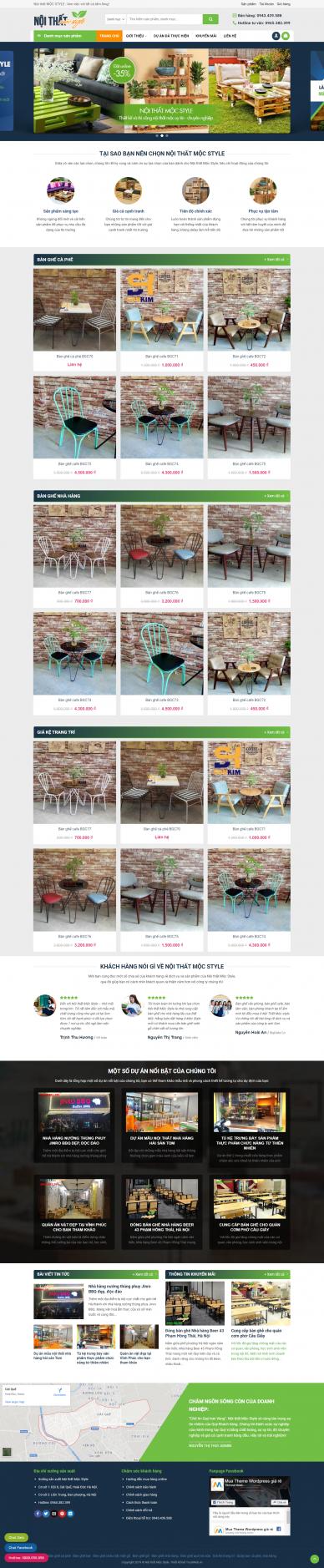 Mẫu website kiến trúc xây dựng giá rẻ