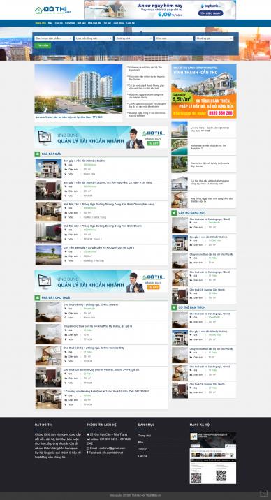 Theme WordPress bất động sản giống DoThi.Net
