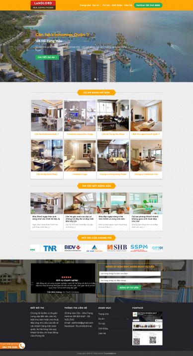 Theme WordPress công ty bất động sản LandLord